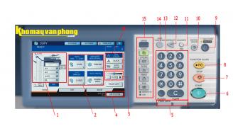 Làm quen với các phím chức năng trên bảng điều khiển và giao diện copy máy photocopy TOSHIBA