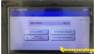 Hướng dẫn xem và in số trang in của máy photocopy Toshiba